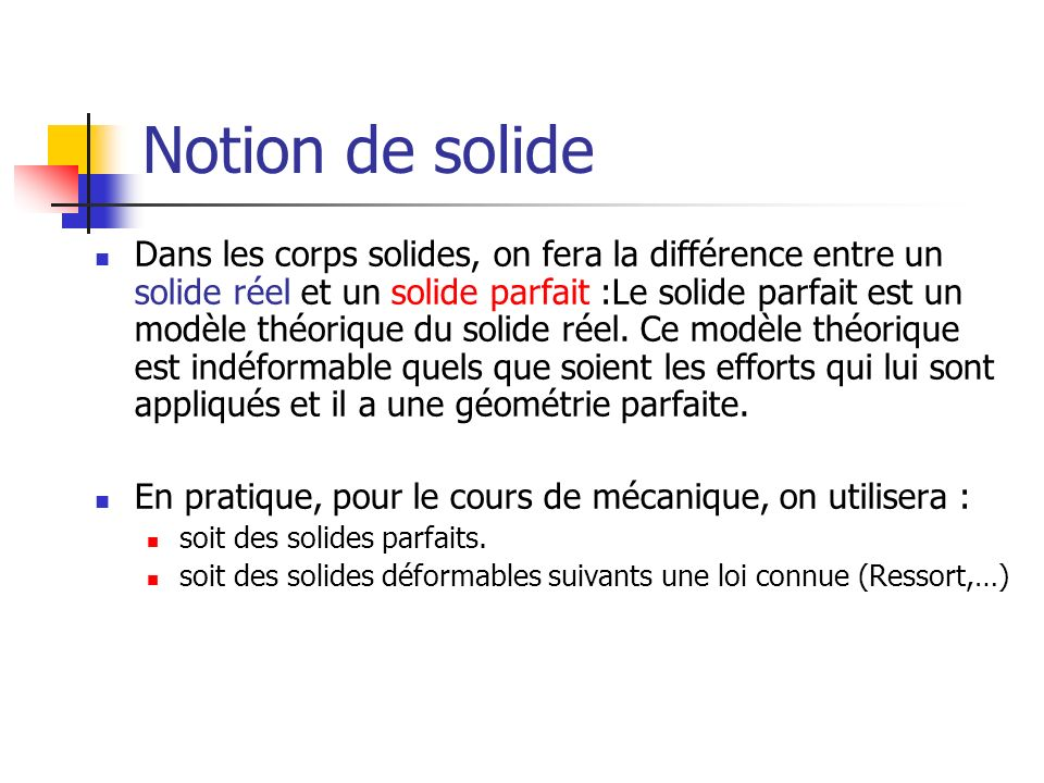 Notion de solide
