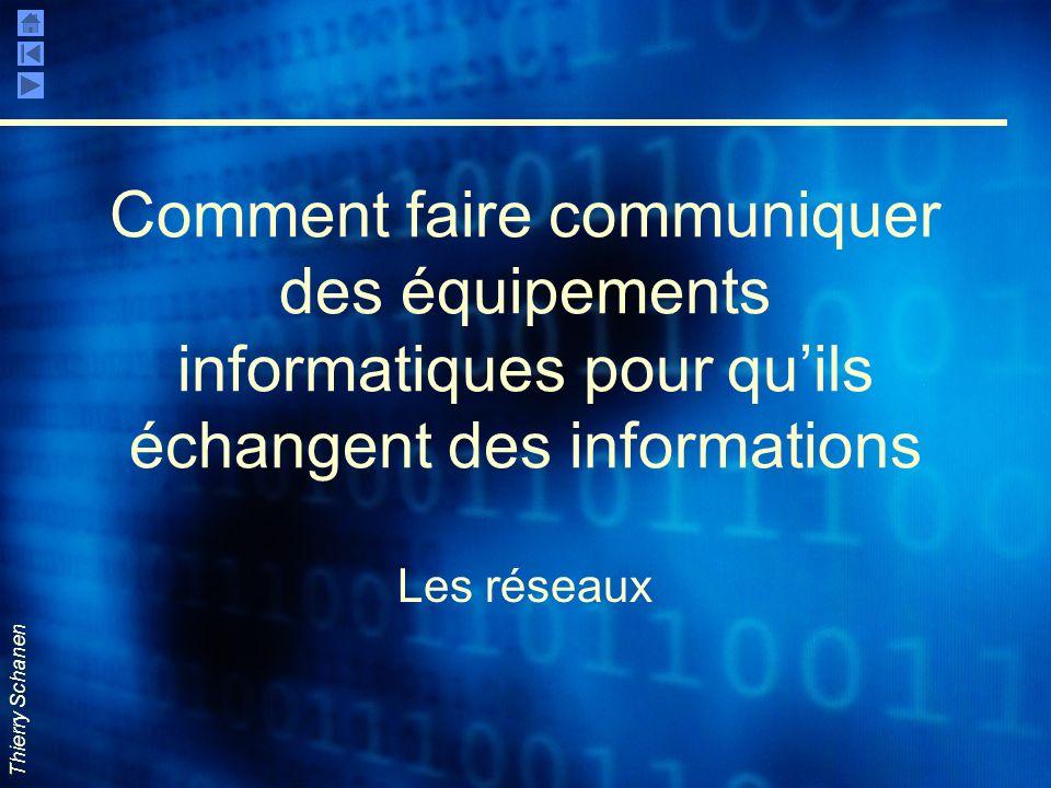 Comment faire communiquer des équipements informatiques pour qu'ils échangent des informations