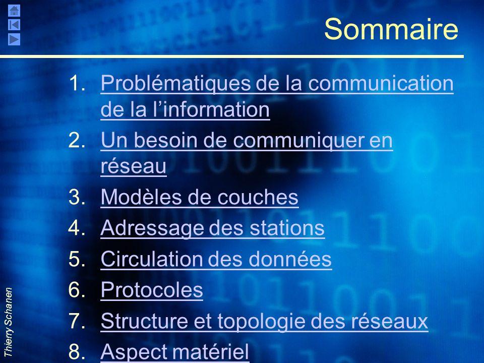 Sommaire Problématiques de la communication de la l'information