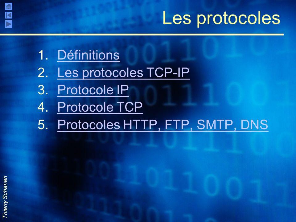 Les protocoles Définitions Les protocoles TCP-IP Protocole IP