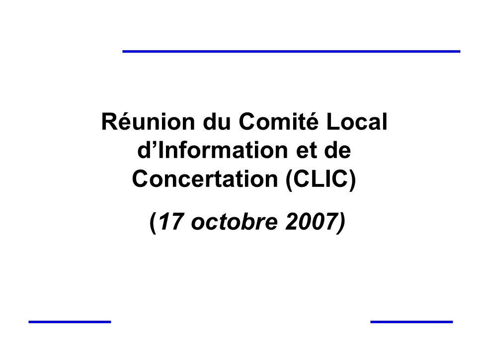 Réunion du Comité Local d'Information et de Concertation (CLIC)