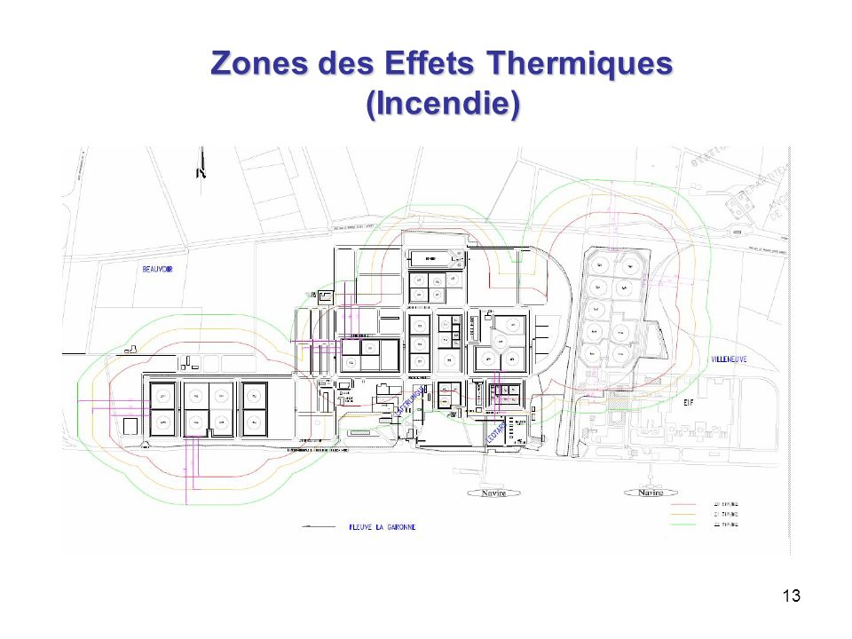 Zones des Effets Thermiques (Incendie)