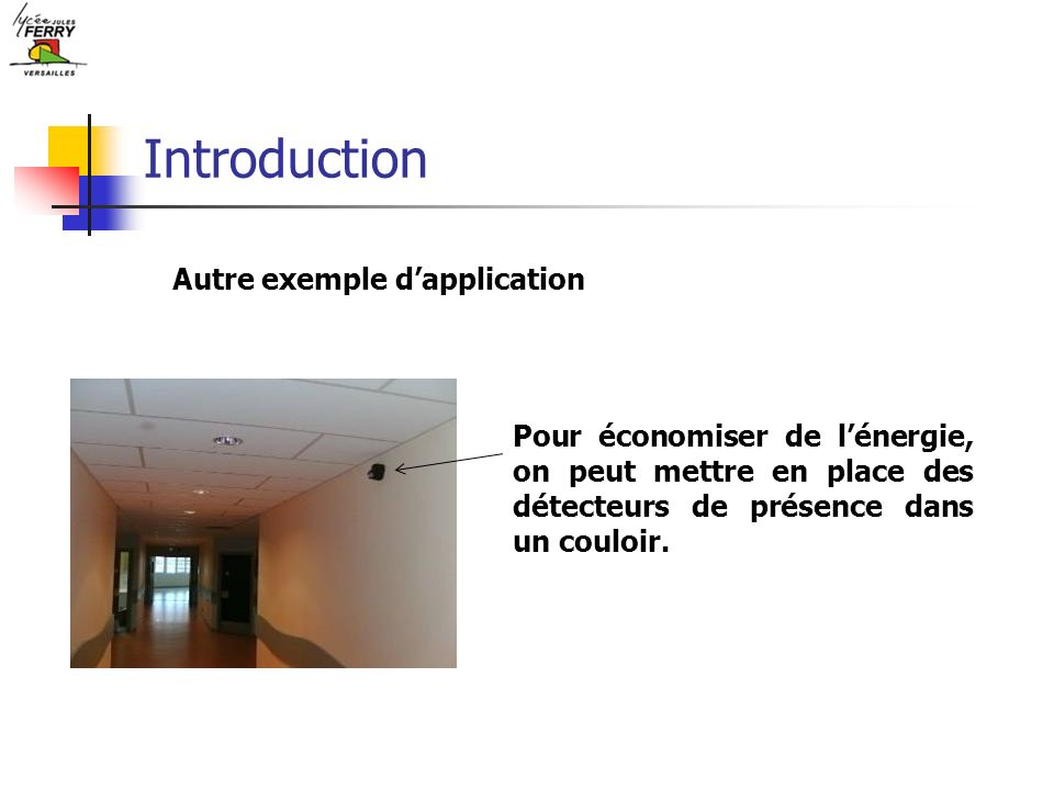 Introduction Autre exemple d'application