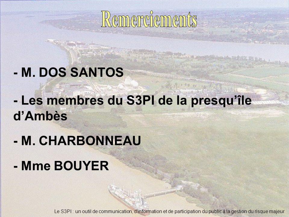 Remerciements - M. DOS SANTOS