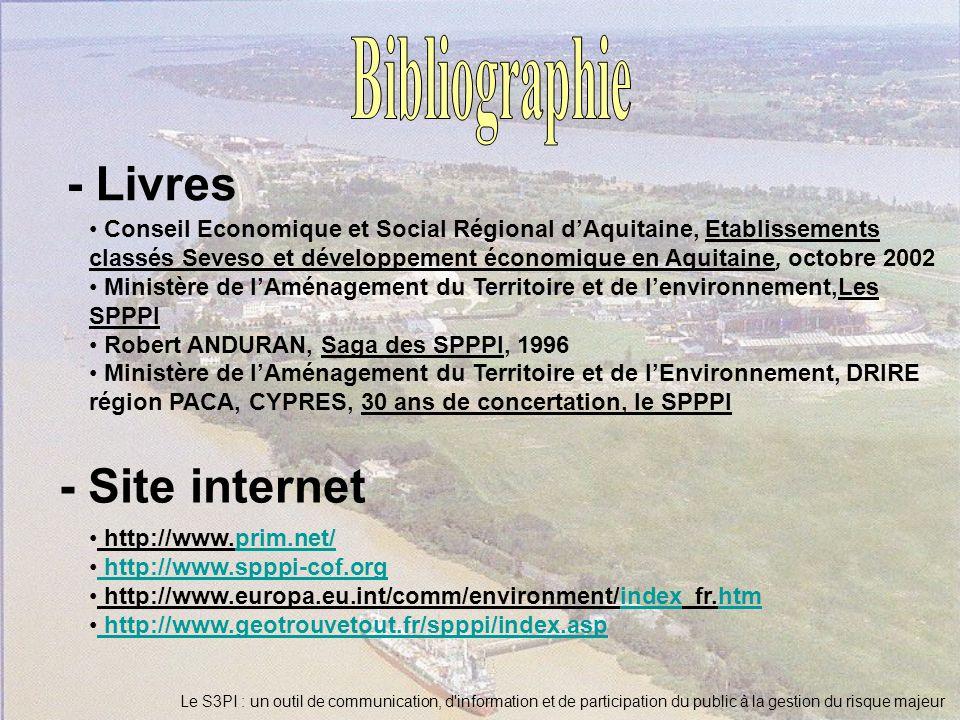 Bibliographie - Livres - Site internet