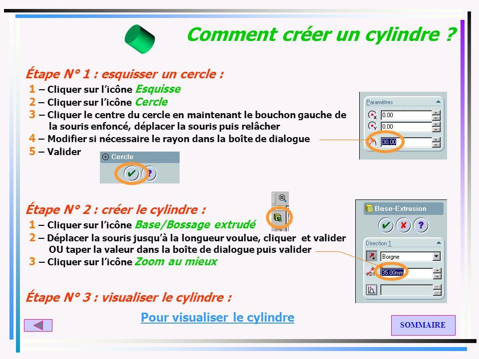 Comment créer un cylindre