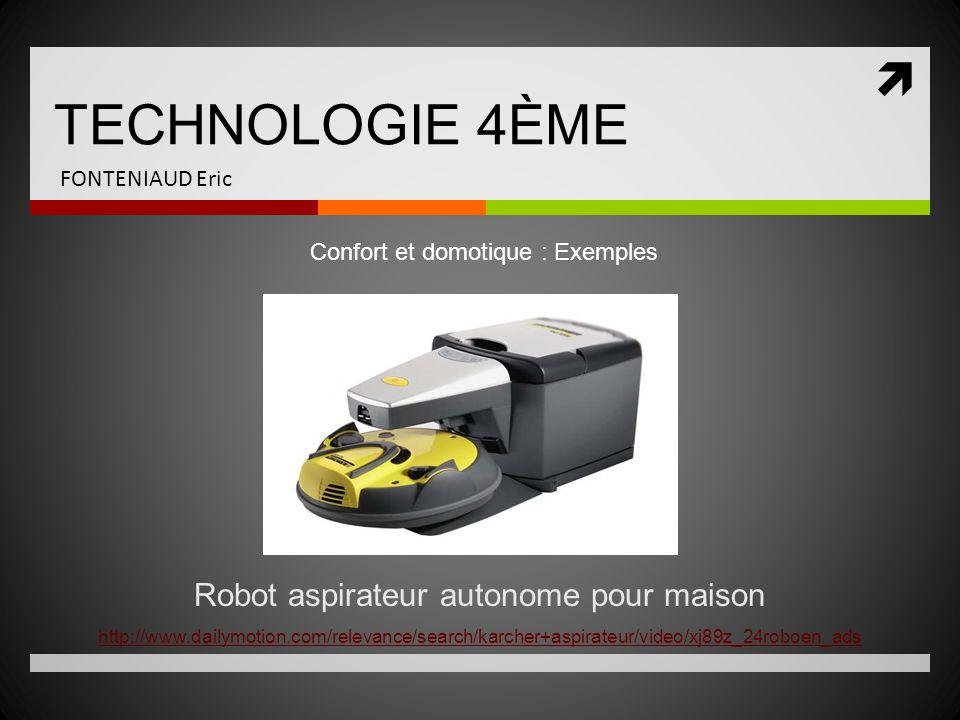 Robot aspirateur autonome pour maison