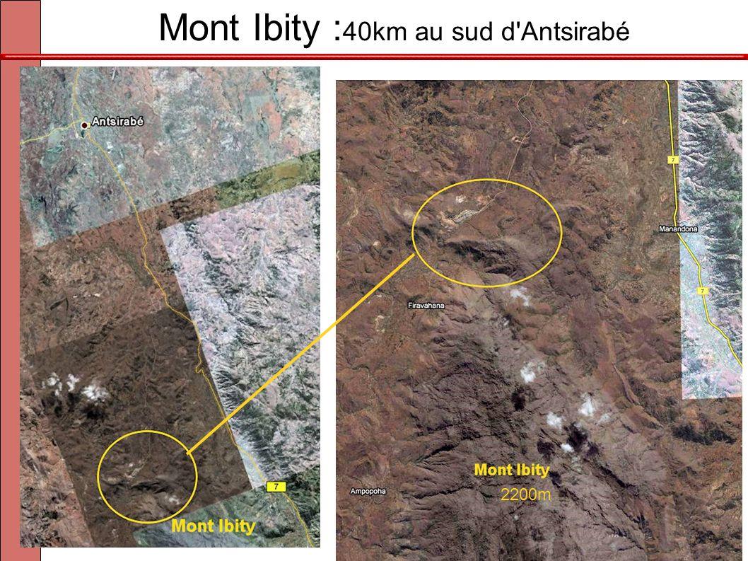 Mont Ibity :40km au sud d Antsirabé