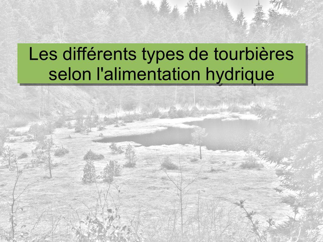 Les différents types de tourbières selon l alimentation hydrique