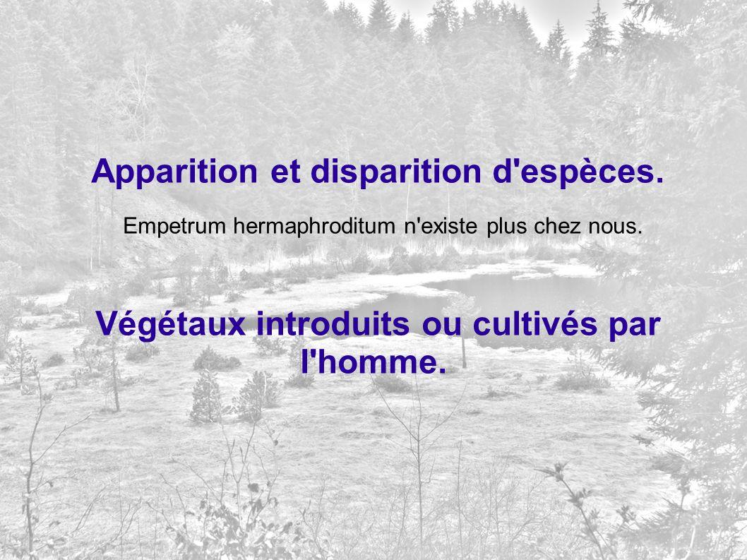 Apparition et disparition d espèces.