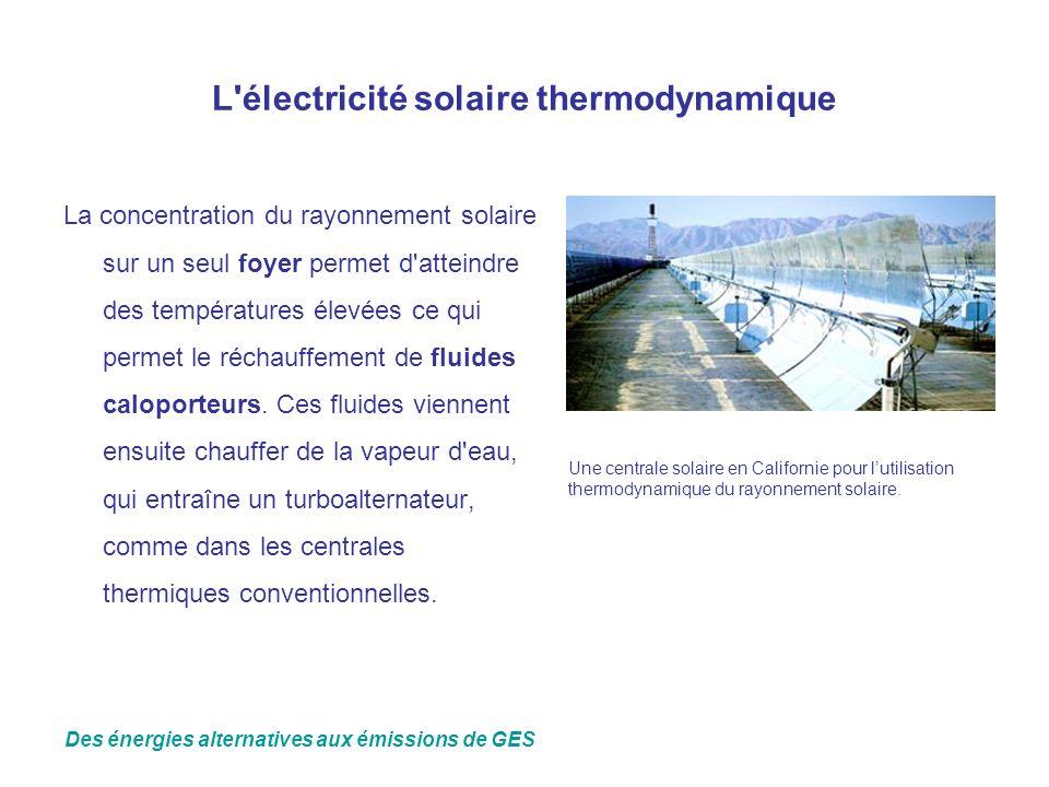 L électricité solaire thermodynamique