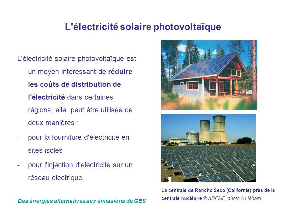 L électricité solaire photovoltaïque