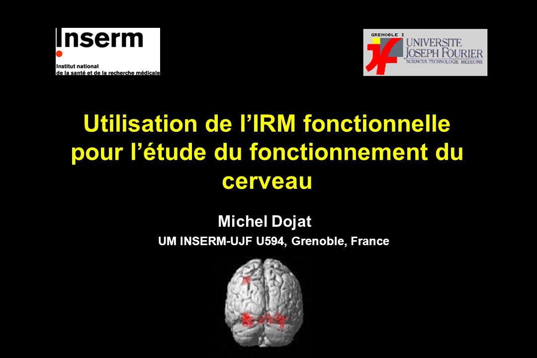 Michel Dojat UM INSERM-UJF U594, Grenoble, France