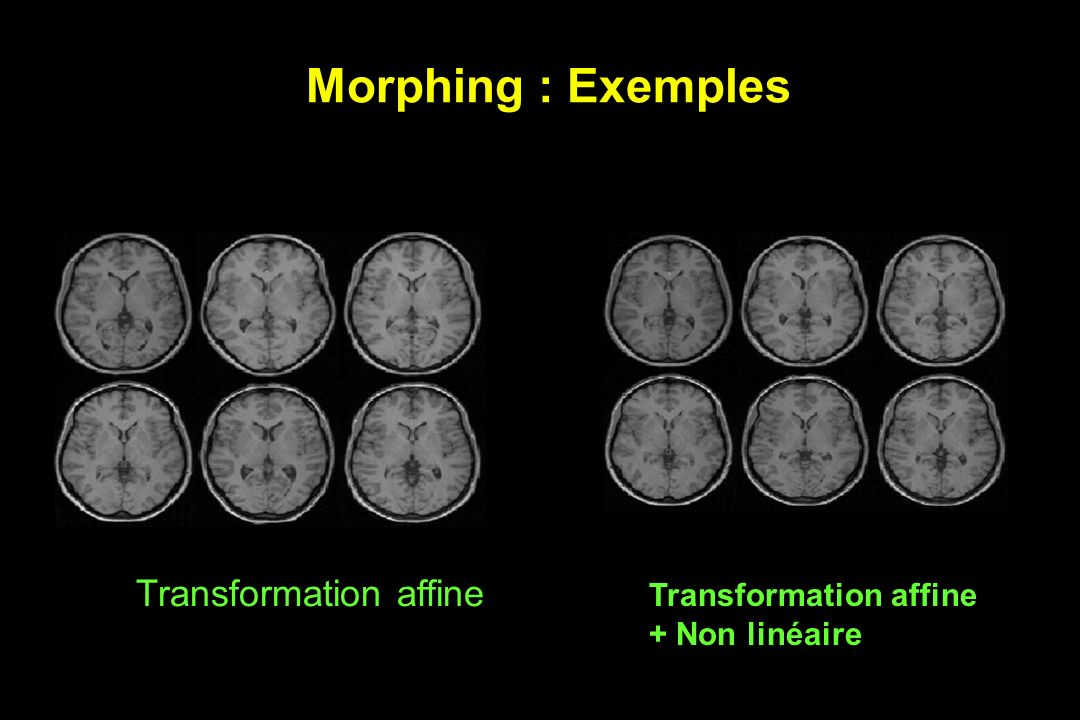 Morphing : Exemples Transformation affine Transformation affine
