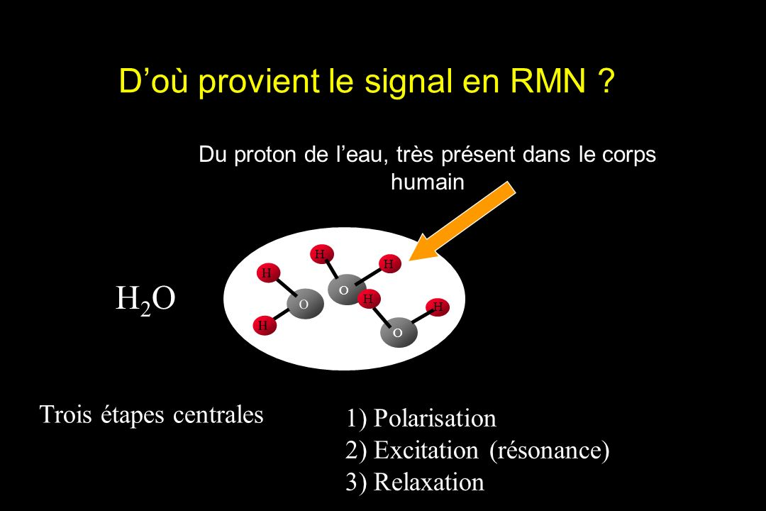 D'où provient le signal en RMN