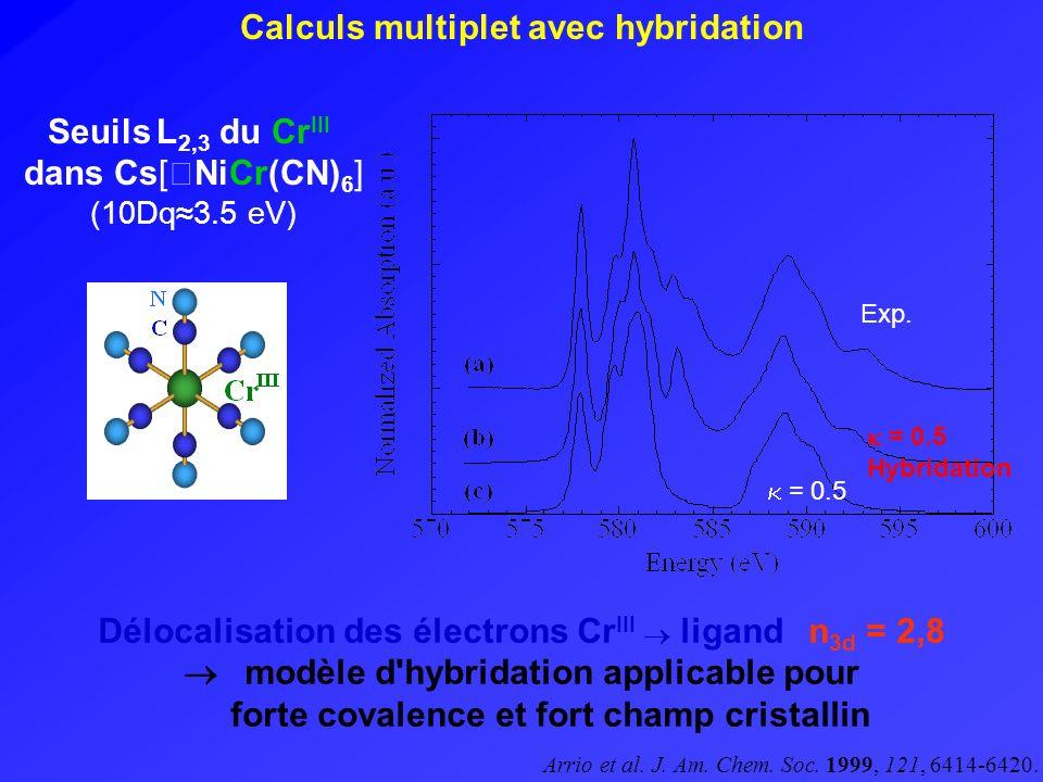 Calculs multiplet avec hybridation
