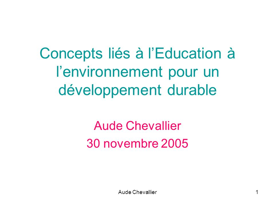 Aude Chevallier 30 novembre 2005