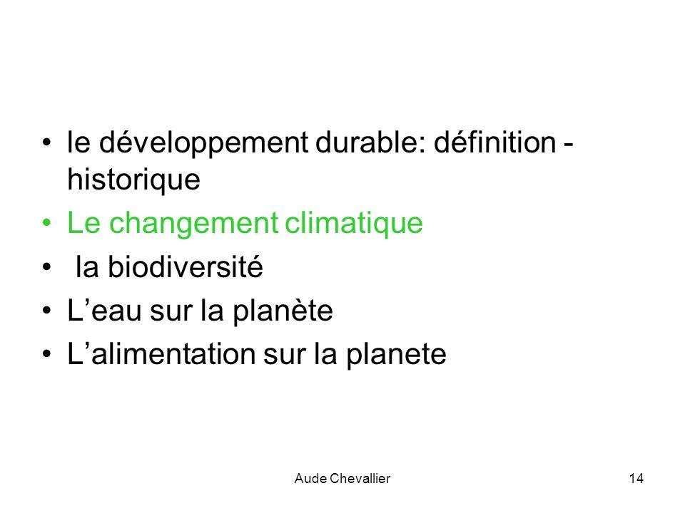 le développement durable: définition -historique