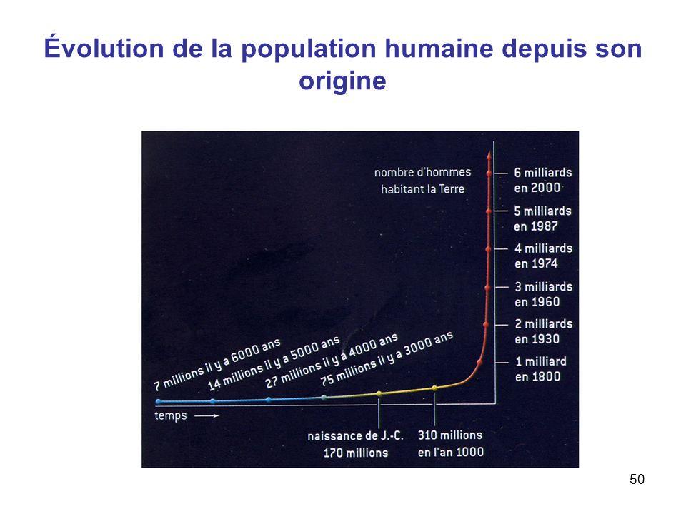 Évolution de la population humaine depuis son origine