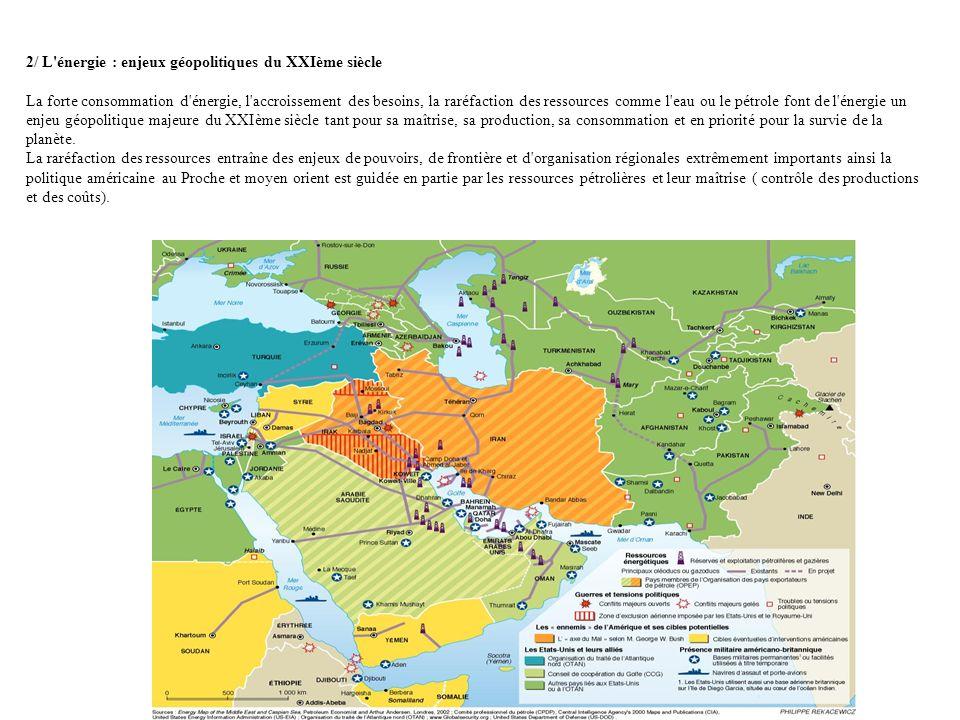2/ L énergie : enjeux géopolitiques du XXIème siècle