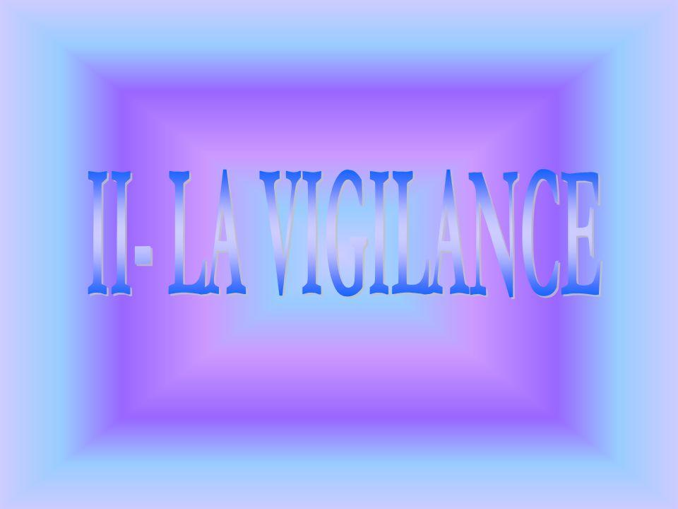II- LA VIGILANCE