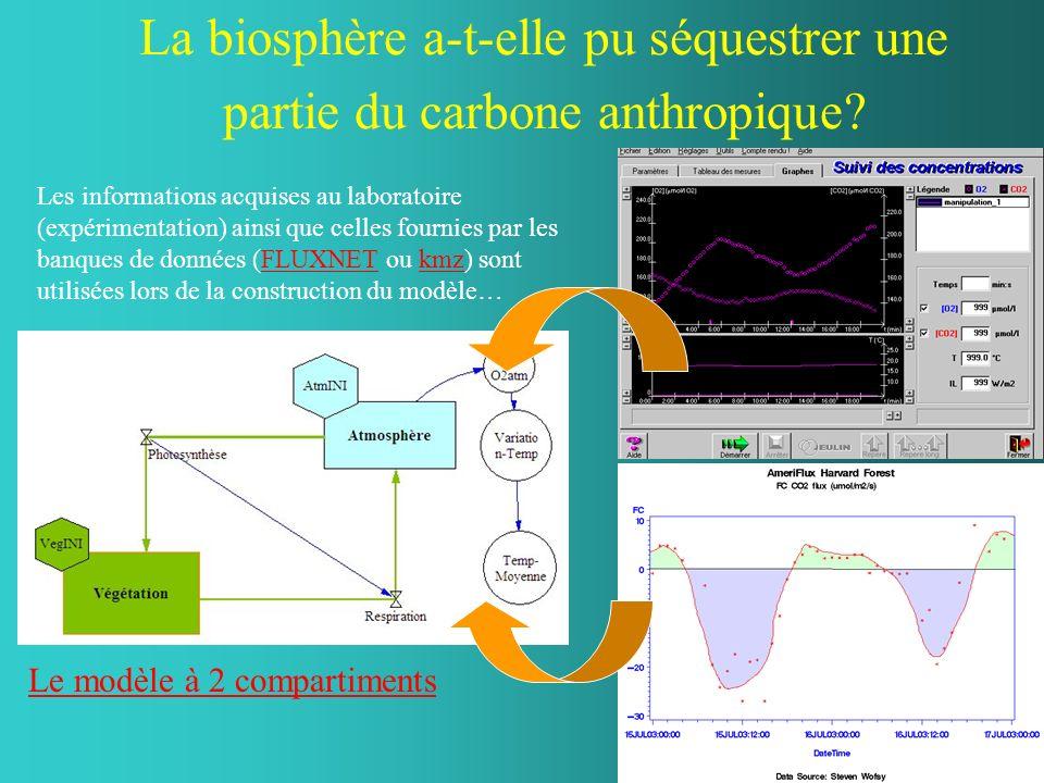 La biosphère a-t-elle pu séquestrer une partie du carbone anthropique