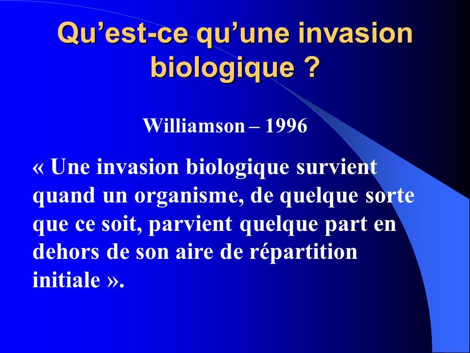 Qu'est-ce qu'une invasion biologique