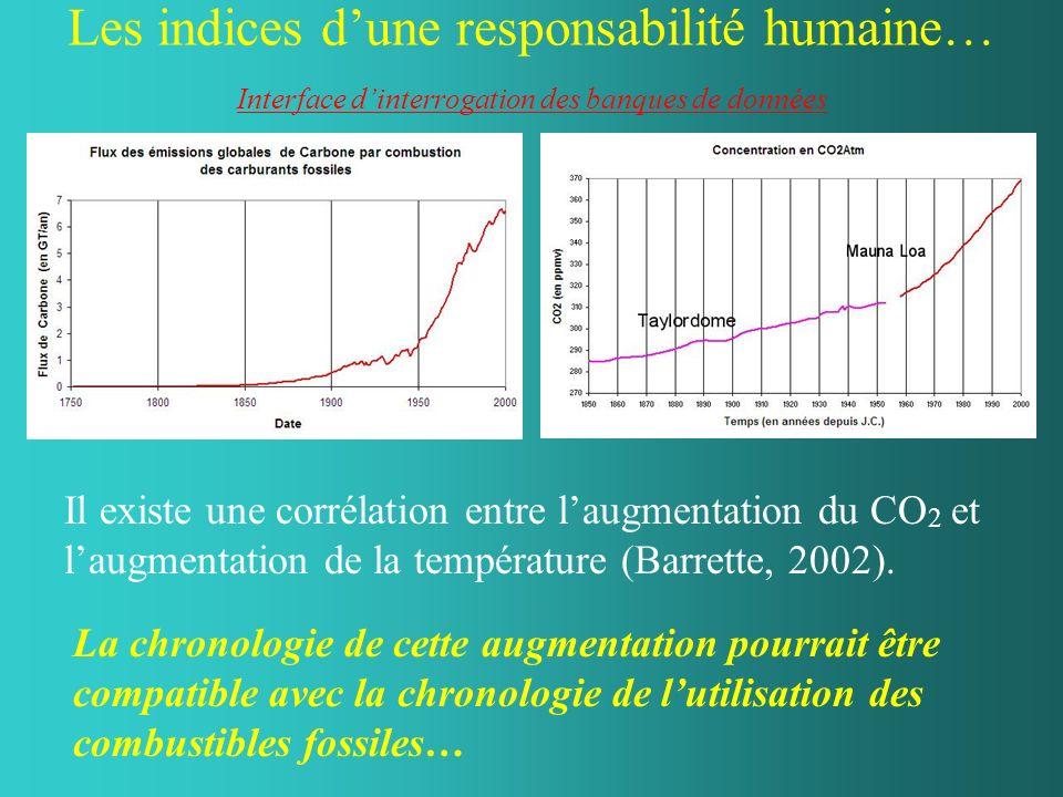 Les indices d'une responsabilité humaine… Interface d'interrogation des banques de données