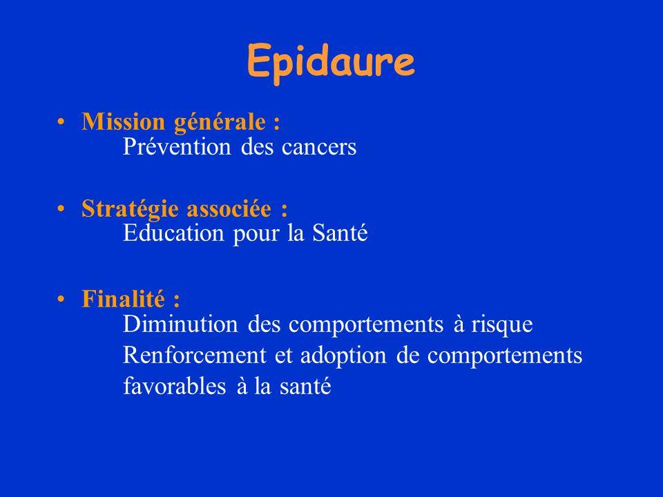 Epidaure Mission générale : Prévention des cancers
