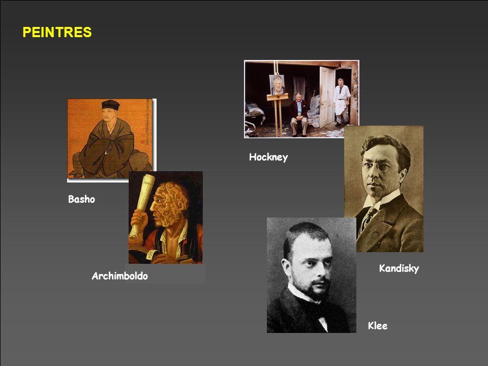 PEINTRES Hockney Basho Kandisky Archimboldo Klee