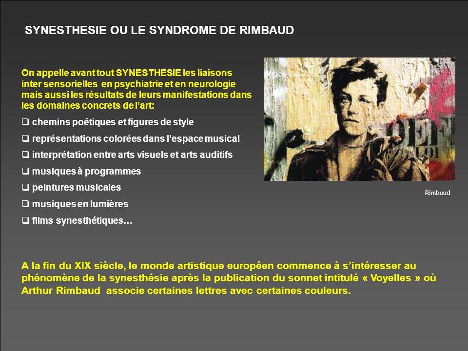 SYNESTHESIE OU LE SYNDROME DE RIMBAUD