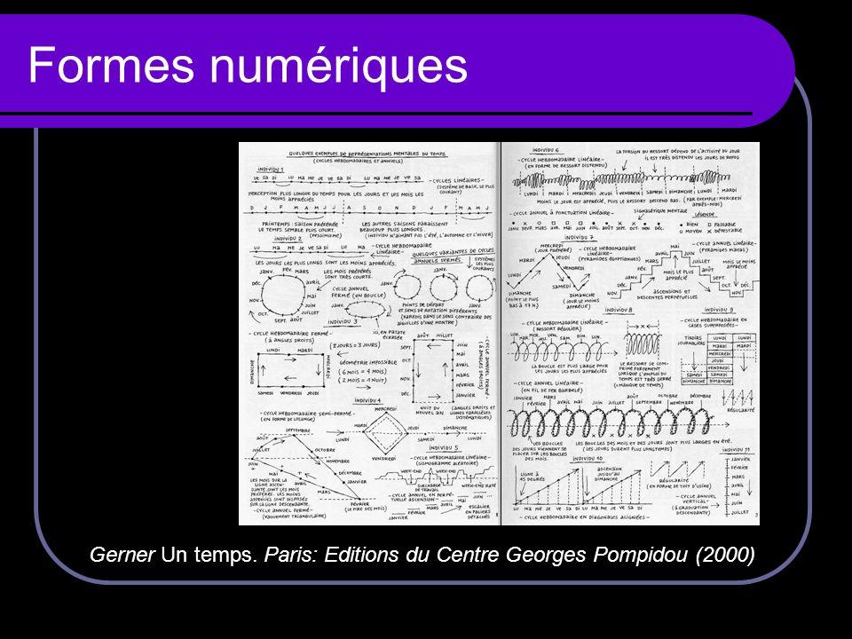 Formes numériques Gerner Un temps. Paris: Editions du Centre Georges Pompidou (2000)