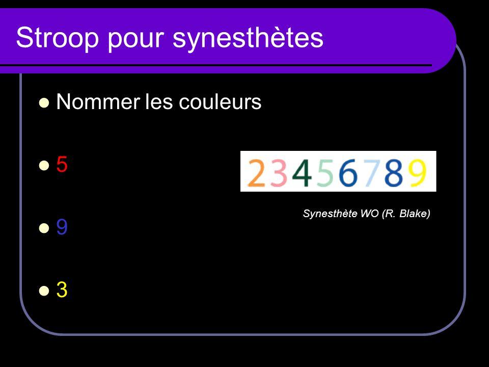 Stroop pour synesthètes