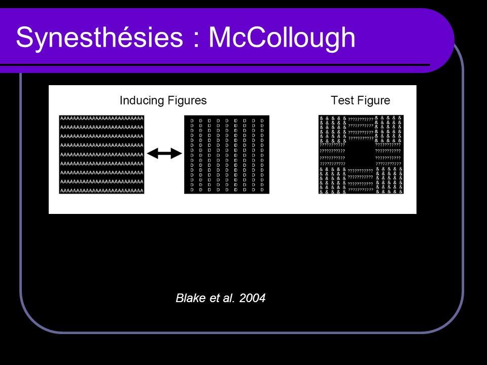Synesthésies : McCollough