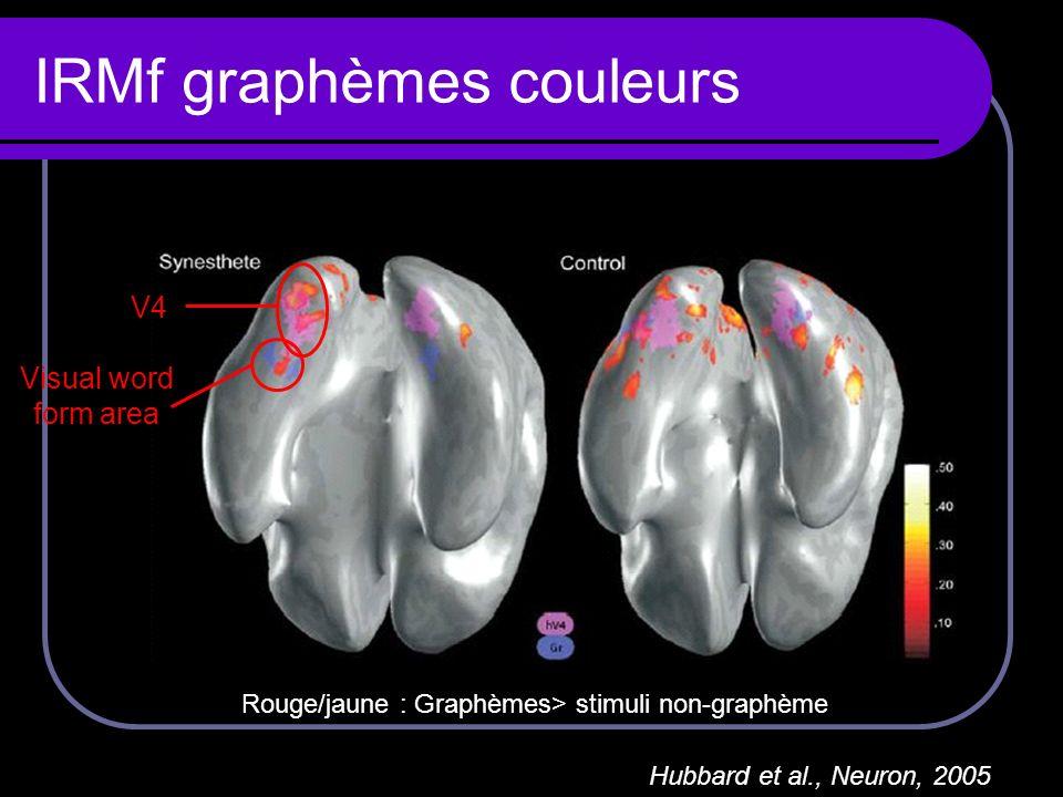 IRMf graphèmes couleurs