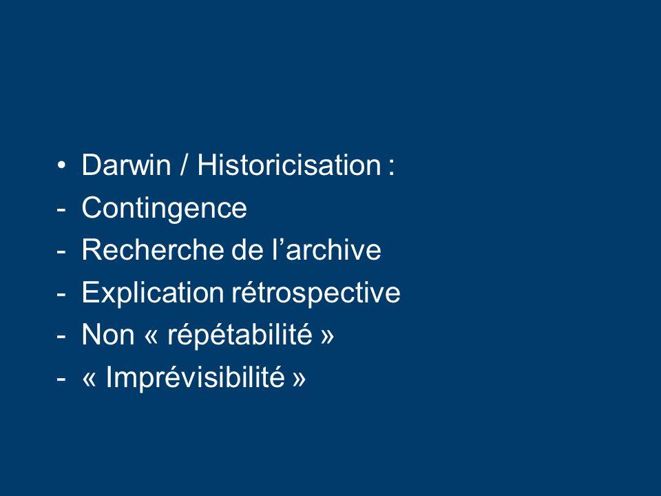 Darwin / Historicisation :