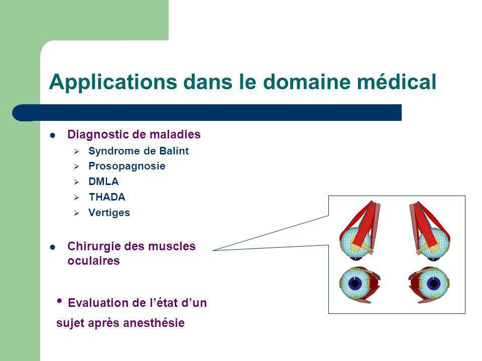 Applications dans le domaine médical