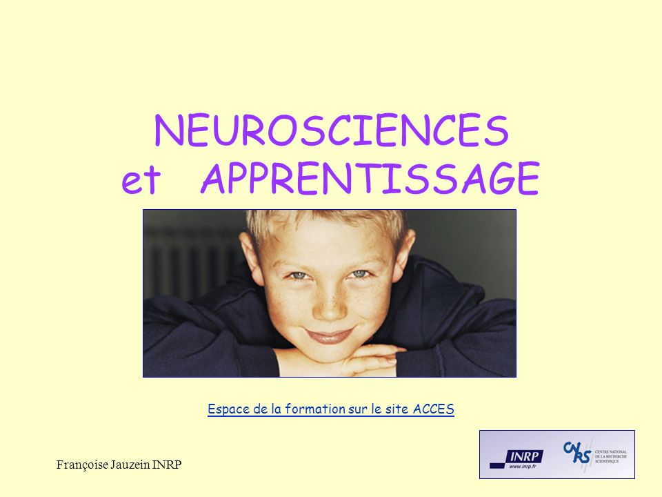 NEUROSCIENCES et APPRENTISSAGE