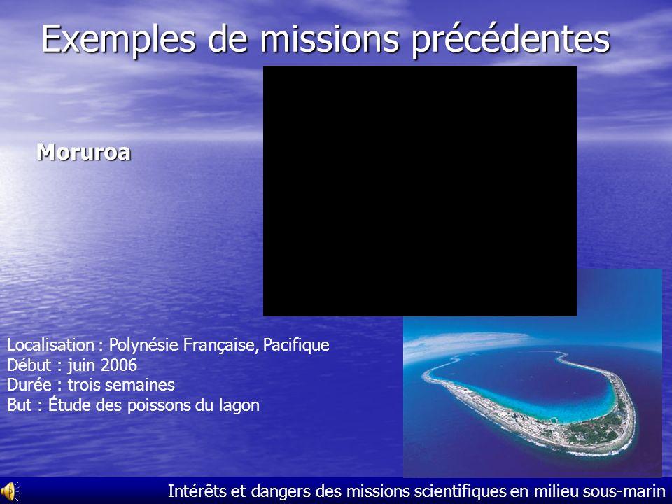 Exemples de missions précédentes