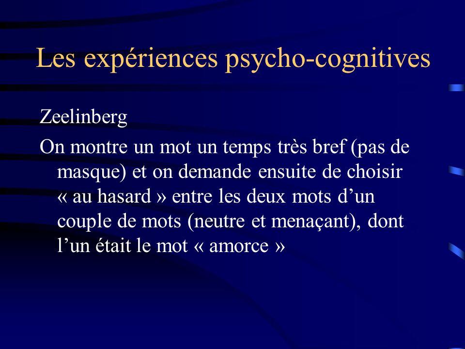 Les expériences psycho-cognitives