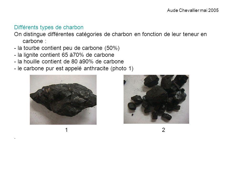 Différents types de charbon