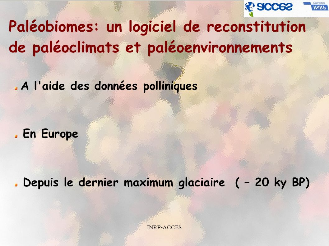 Paléobiomes: un logiciel de reconstitution de paléoclimats et paléoenvironnements
