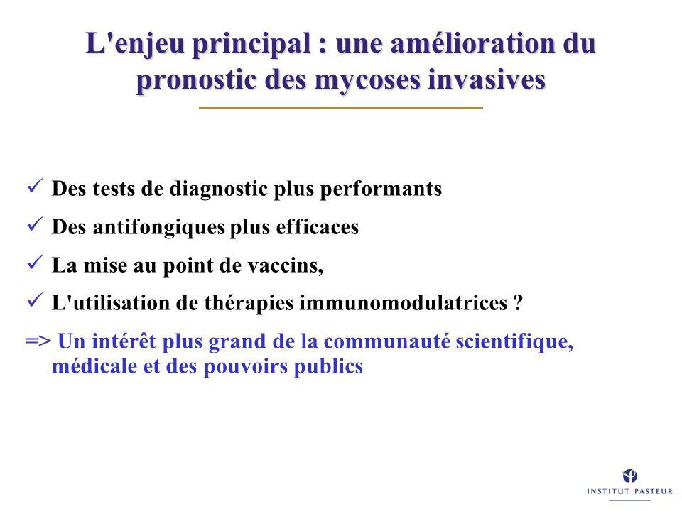 L enjeu principal : une amélioration du pronostic des mycoses invasives