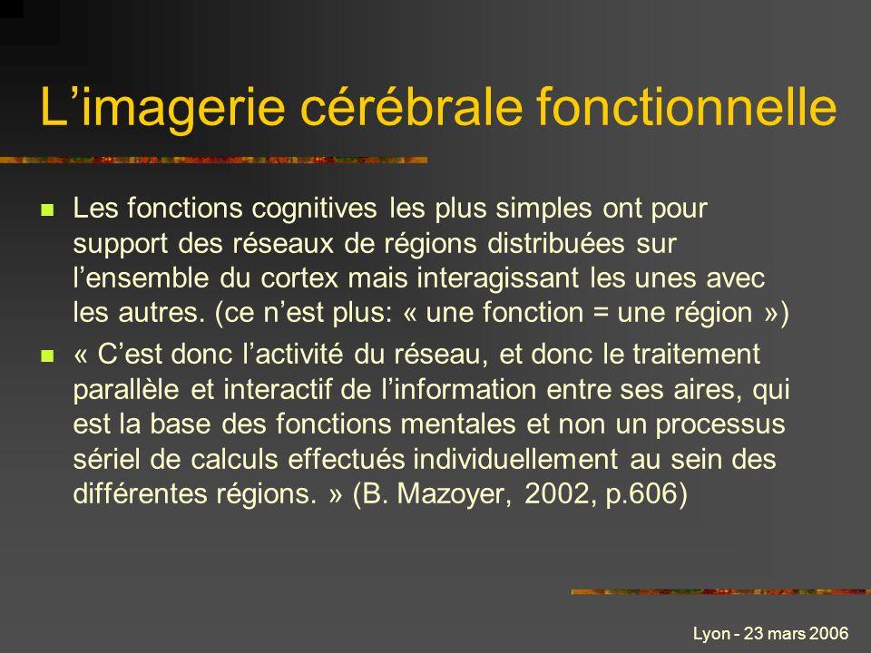 L'imagerie cérébrale fonctionnelle