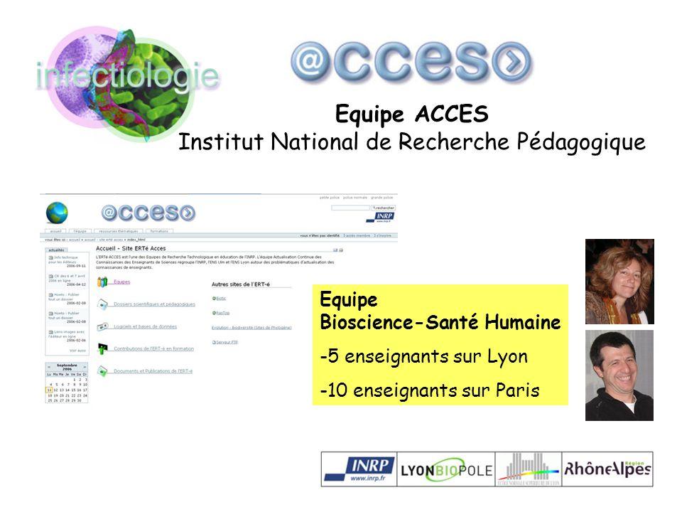 Equipe ACCES Institut National de Recherche Pédagogique