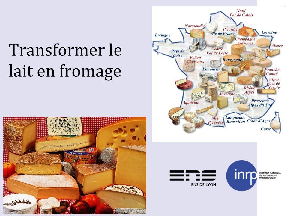 Transformer le lait en fromage