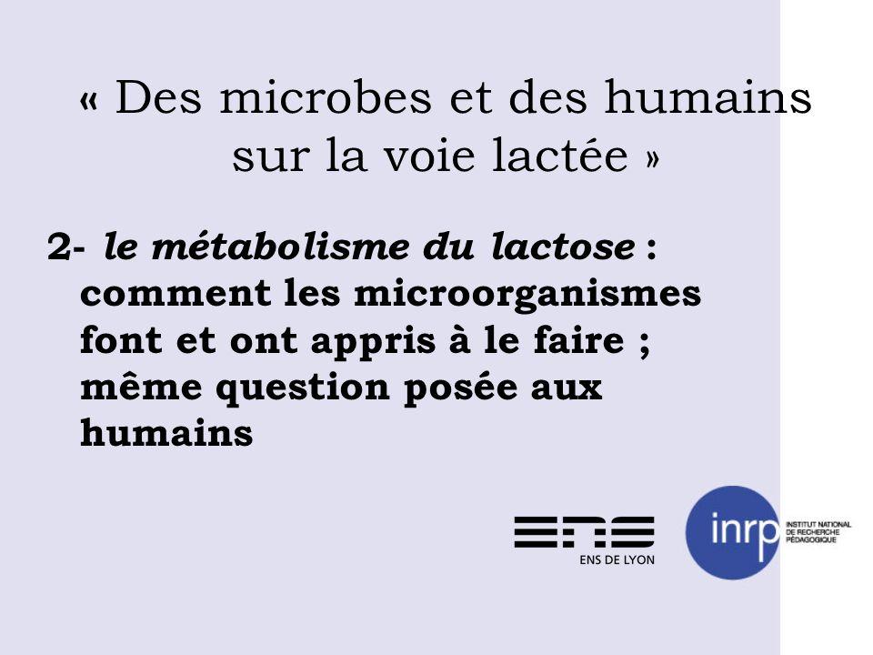 « Des microbes et des humains sur la voie lactée »