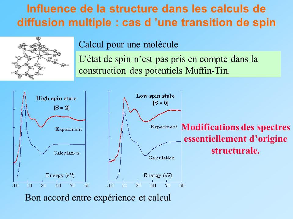 Influence de la structure dans les calculs de