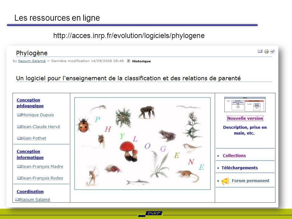 Les ressources en ligne