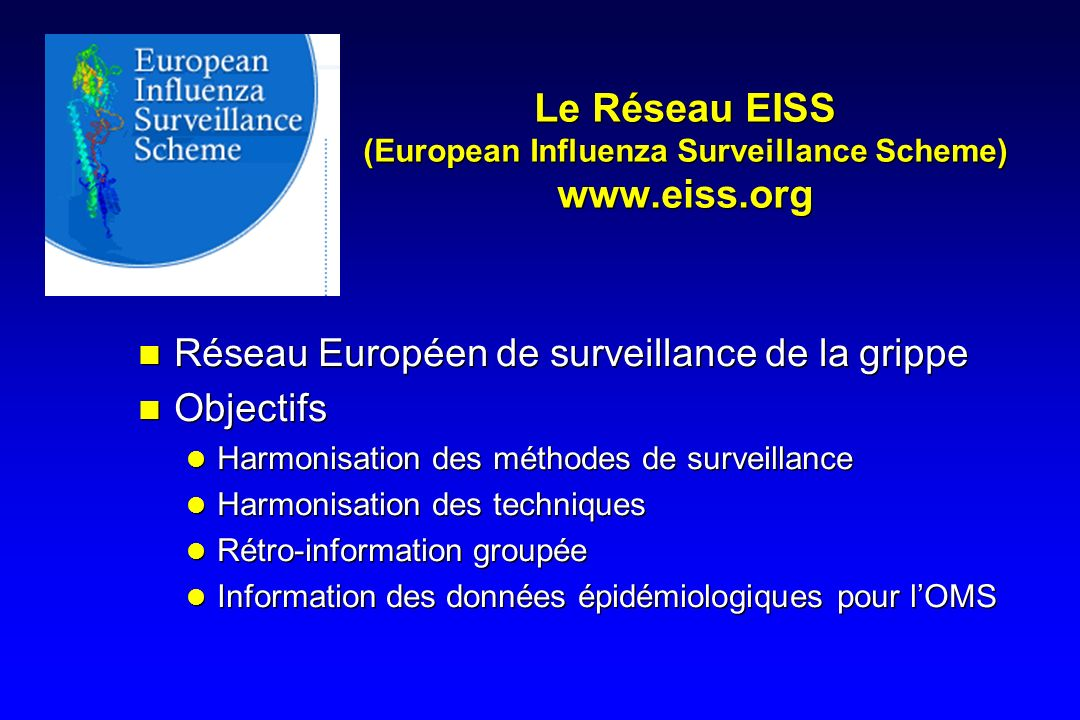 Le Réseau EISS (European Influenza Surveillance Scheme) www.eiss.org